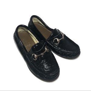 Other - Black Patent Kids Horsebit Loafers